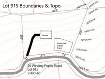 Lot 915 Boundary and Topo Map