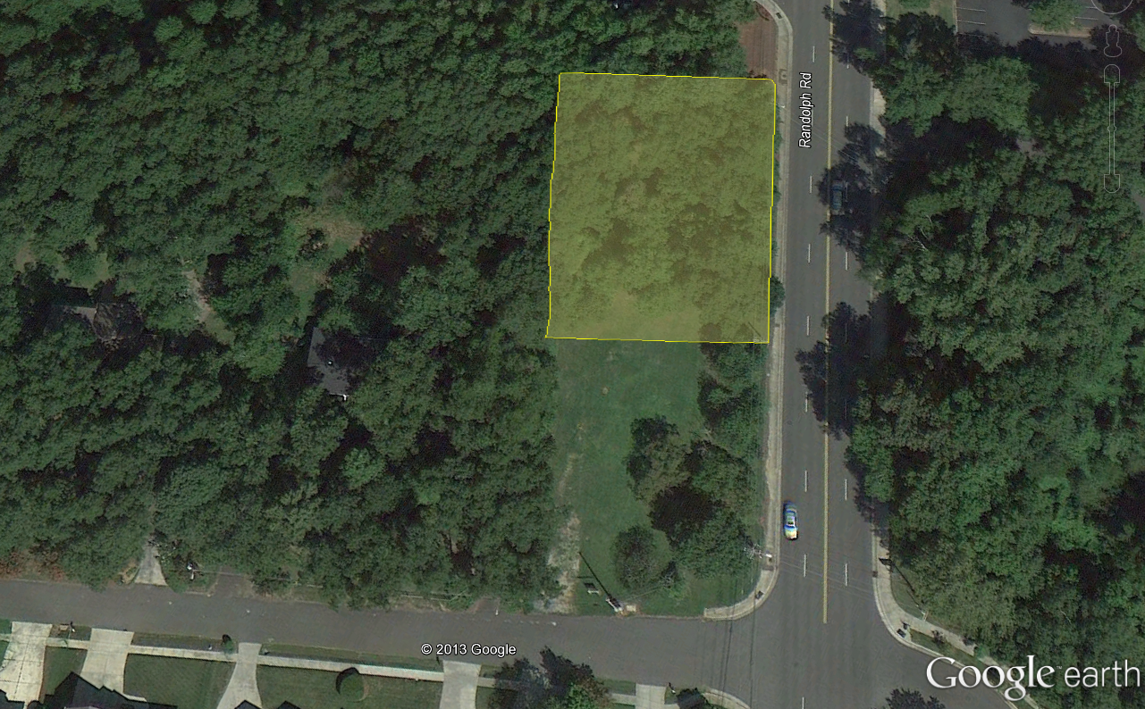 Aerial View of 100 B Meadowbrook Lot (Approx)